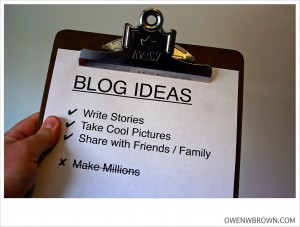 BLOG IDEAS